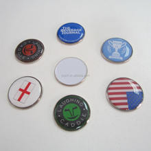 Customized cheap 25mm dome golf ball marker