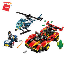 Qman educational toys blocks building the helicopter and  extreme buggies Model bricks compatible legoing