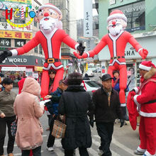 Inflatable Walking Santa Claus Costume for Christmas Parade