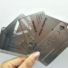 Free design customized  stainless steel metal  visiting card  for souvenir metal business card