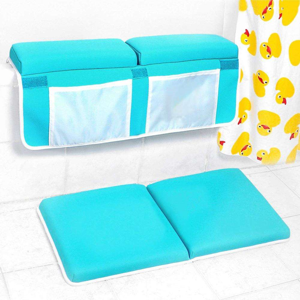 Foldable and Detachable Kneeling Mat and Elbow Support for Baby Bath Bathtub Suport Bath Kneeler with Elbow Rest Pad Set