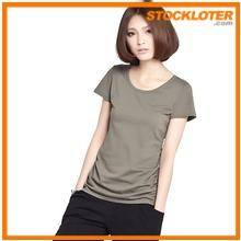 Women Grey Cotton T-shirt Overstock