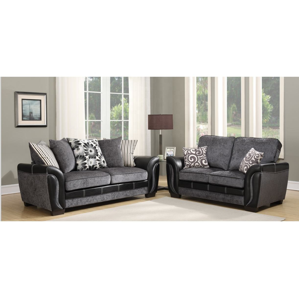 Europe luxury sofa 3 seaters loveseat sofa set for living room lounge sofa home furniture