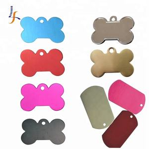 Cheap Aluminum Stainless steel Custom metal Blank Dog Tag Blank Bone Shaped Dog Tag dog name id tag