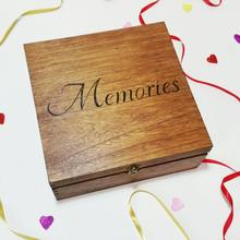 Wooden wedding memory Keepsake box