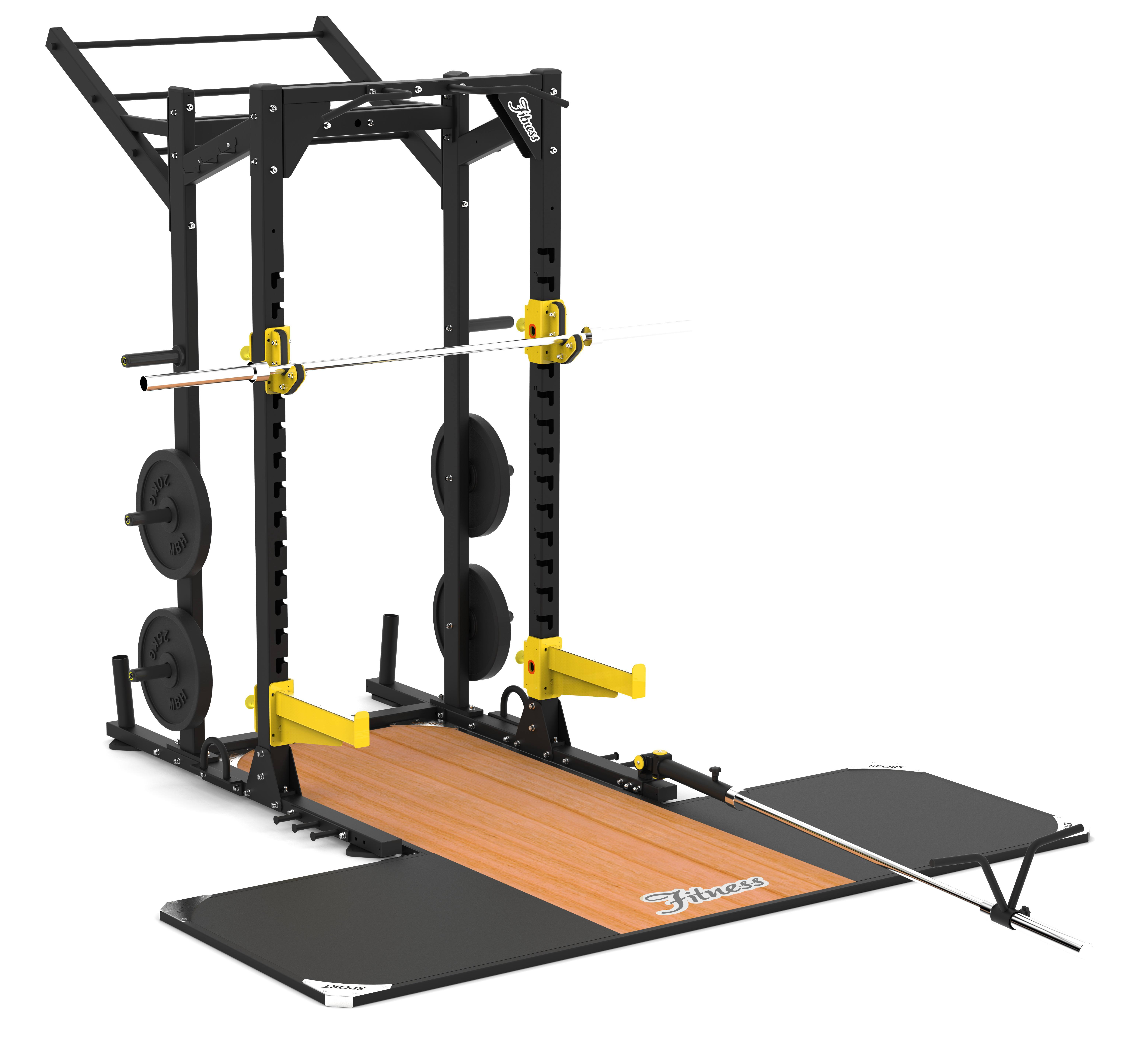 Power rack multi-funzionale per il fitness