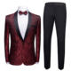 2019 new design Men Fashion Slim Fit Suit 2 piece Men's Slim ceremony Business Casual Suit full dress embroider pattern