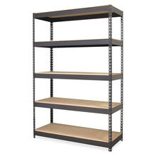 Boltless garage warehouse rack /5 -tier adjustable display metal storage shelf