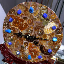 Unique Natural ammonite fossil clock opal ornaments sale