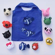 Reusable cartoon fish folding shopping bag eco nylon bag