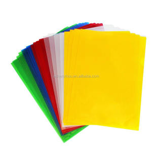 Wholesale best price custom office stationery A4 frosted clear PVC plastic folders transparent file holder