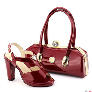 2019 High quality shoes and bags Italian Shoes And Matching Bag S181205