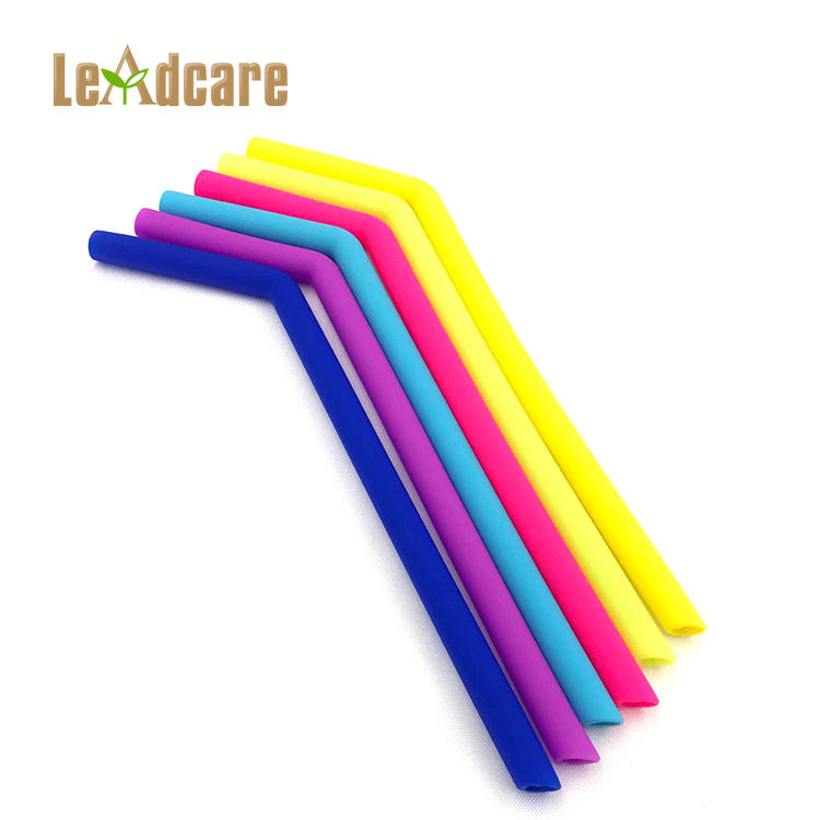 Promotional Bulk Eco Friendly Food Grade Colorful Reusable Silicone Drinking Straw