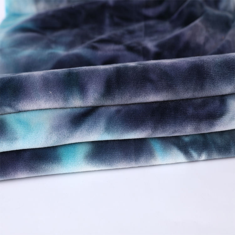 Factory wholesale Irregular pattern polyester single jersey tie-dyed fabric knitted