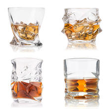 Unique Modern Rocks Lead Free Crystal Glasses for Scotch or Bourbon Box Twist Nosing Whiskey Glass With Luxury Gift