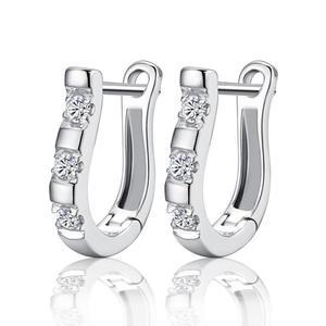 Fashion U shaped zircon harp Stud Earrings