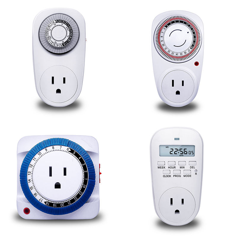 24 HOUR PLUG-IN MECHANICAL ELECTRIC OUTLET TIMER 15 MINUTE INTERVAL TIMER