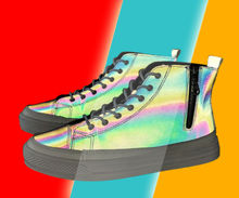 Night Warrior chameleon reflective high-top shoes