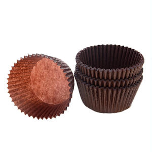Food grade greaseproof muffin wrapper baking cups brown mini cupcake liner paper cupcake case for chocolates