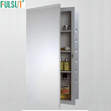 Recessed Steel Bathroom Mirrored Medicine Cabinet with white powder coated
