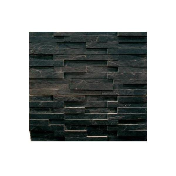 Cheap Black Slate Culture Stone Tile for House Cladding Panels Exterior Wall