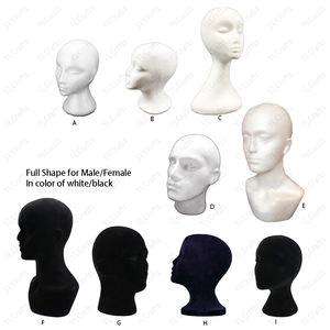 Wig Head Display 280mm Eco-Friendly Manufacturers EPS Foam Styrofoam Head Model Polystyrene Mannequin Display For Hat