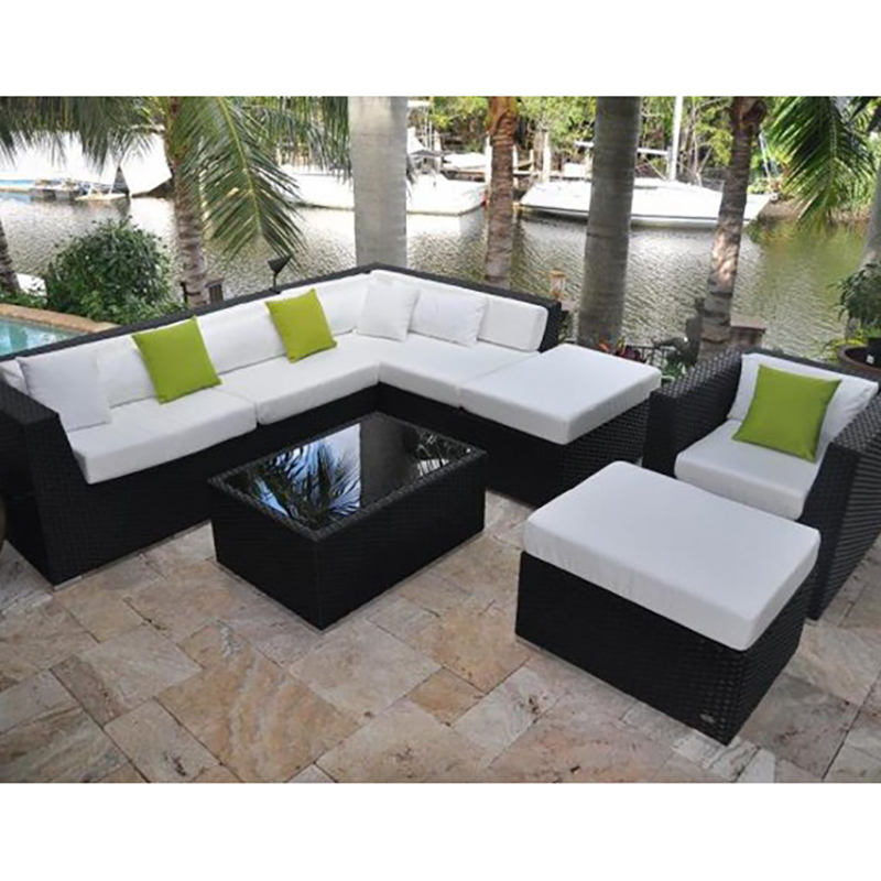 Fashion and Modern Rattan Sofa Set Used Hotel Lobby Furniture Garden Furniture Set