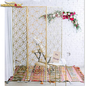 gold stainless steel metal high wedding hall divider