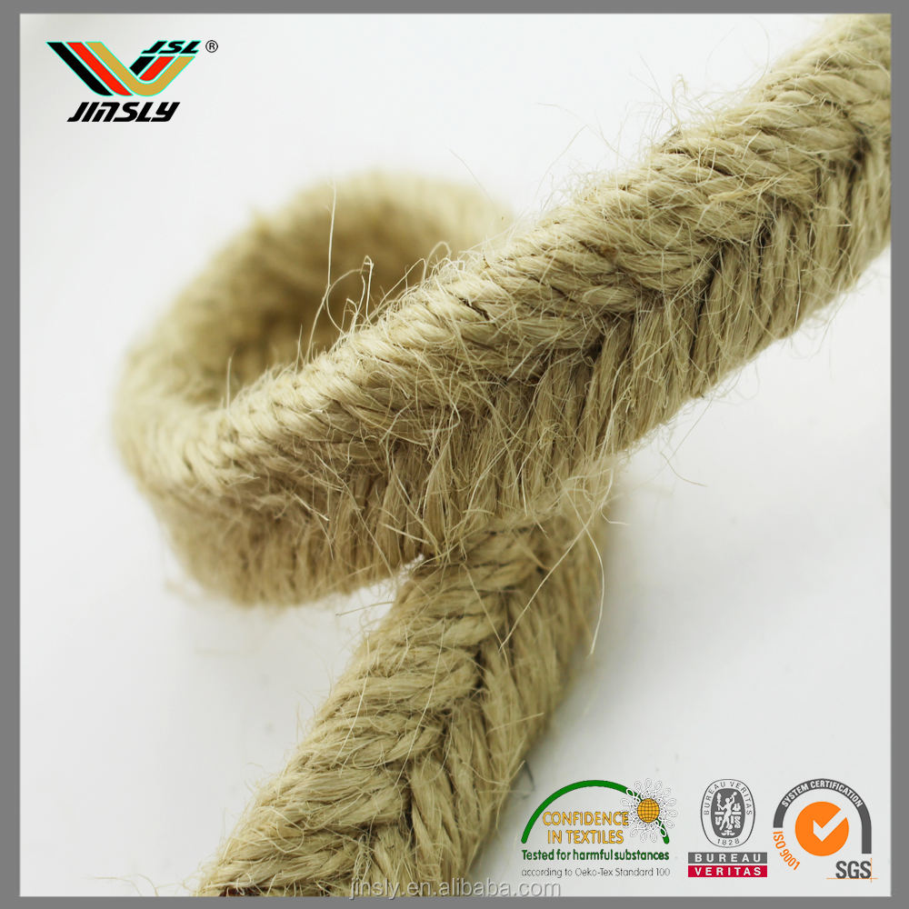 High quality 8mm braided Crafts wooden jute rope