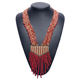 online shop china popular design braided seed beads multi strand exaggerated long necklace