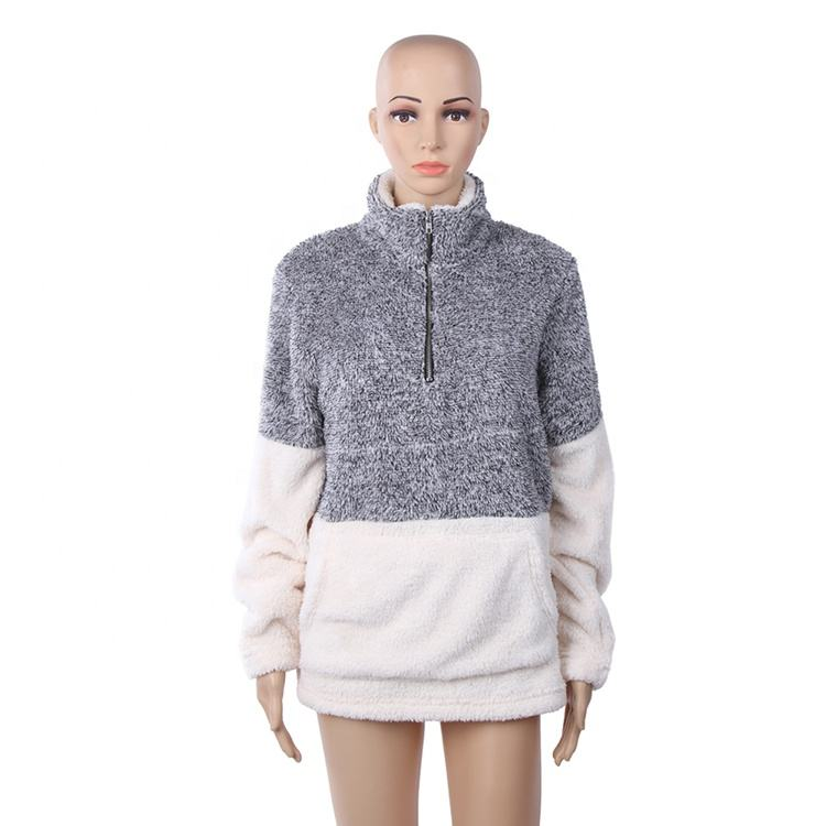 Commercio all'ingrosso Monogram Donne <span class=keywords><strong>Calore</strong></span> Due Tono Sherpa Pullover