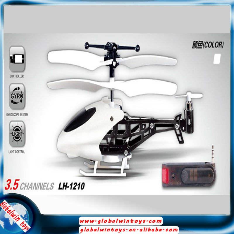 3.5channel aleación iphone control mini rc helicóptero wifi tiempo real transmisor airrcraft con gyro gw-tlh1210