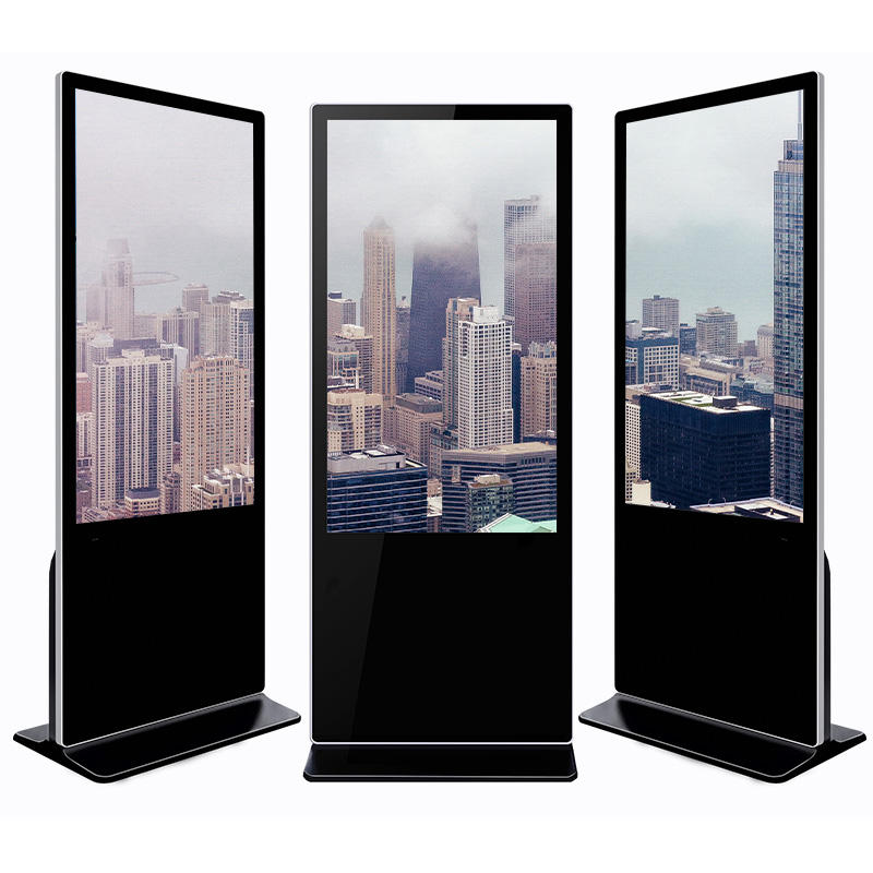 New design advertising player floor stand indoor lcd digital signage