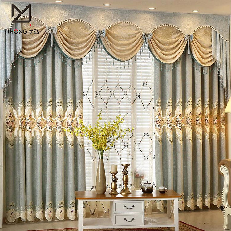 Custom curtains and drapes with luxury curtain rods