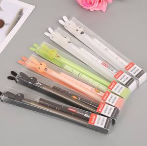 Kawaii Cute Cartoon colourful animal Shape gel ink pens Stationery stationary For Students school supplies