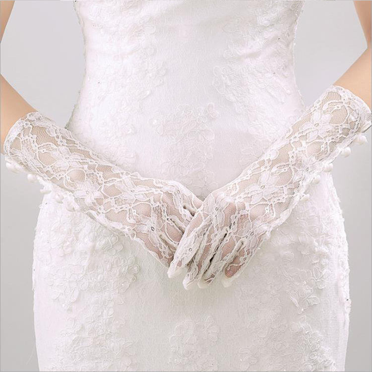 Wholesale Wedding New fashion Bridal Ivory Wedding Gloves for Sale