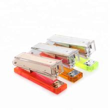 Office Accessories Book Binding Multi-color Perspex Stapler without Staples