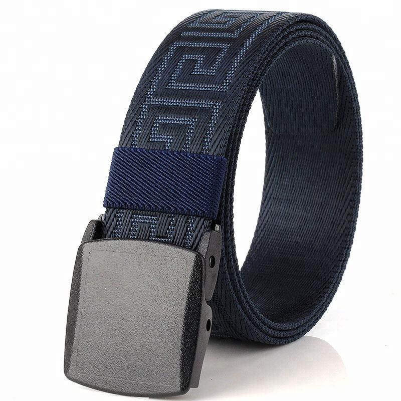 Men Women Waist Belt Waistband Casual Plain Webbing Canvas Belt Strap Belts D Yg