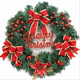 American Ornaments For Christmas Decoration With Jingle Bell