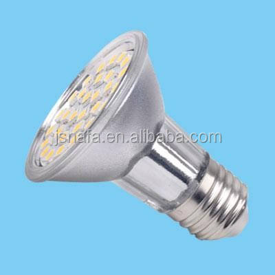 Nuevos productos en el mercado de china par20 regulable 30smd luz led alibaba express