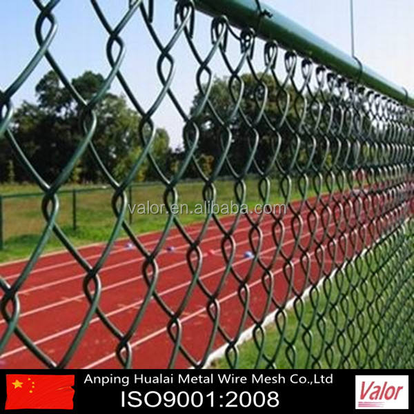 Cheap 6ft PVC Coated plastic used chain link wire mesh fence for sale (Anping Factory)