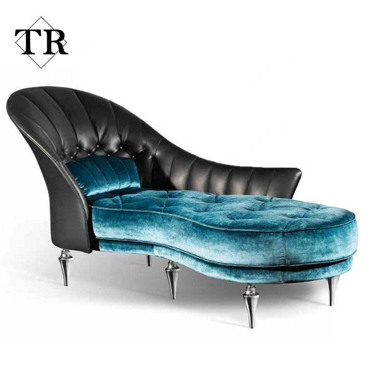modern Italy design couch Genuine leather and fabric kind sofa for living room