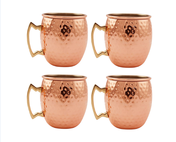 Antique Moscow Mule Copper Mug Copper Plated Coffee Cocktail Drinking Mug Set