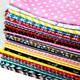 Custom Pink 100% Cotton Fabric For Sewing Fat Quarter Quilting Patchwork Tissue Cloth