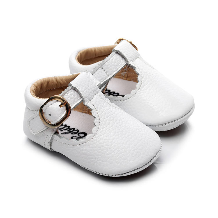 2019 Genuine Leather T-bar Mary Jane Baby Girls Shoes Infants Toddler Baby Princess Ballet Shoes Newborn Crib Shoes