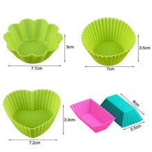 Amazon Hot Sale Reusable Non-Stick Silicone Cupcake Baking Muffin Cups