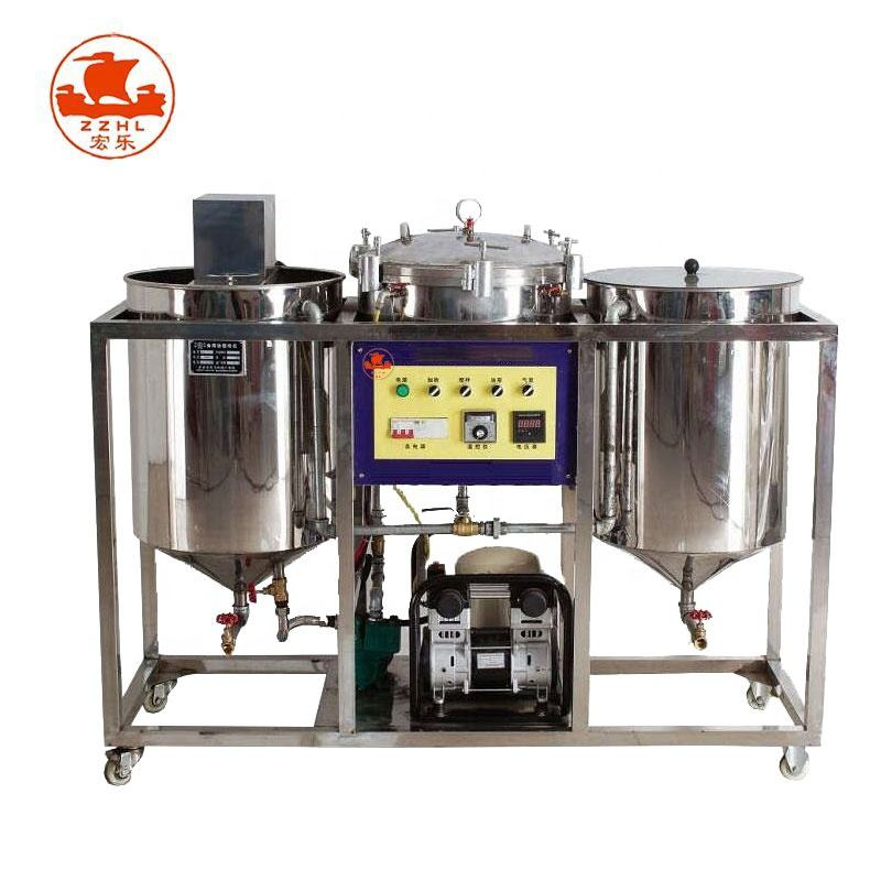 Refined Sunflower Soybean Palm Oil Refining Machine Deacidification Crude oil refinery equipment