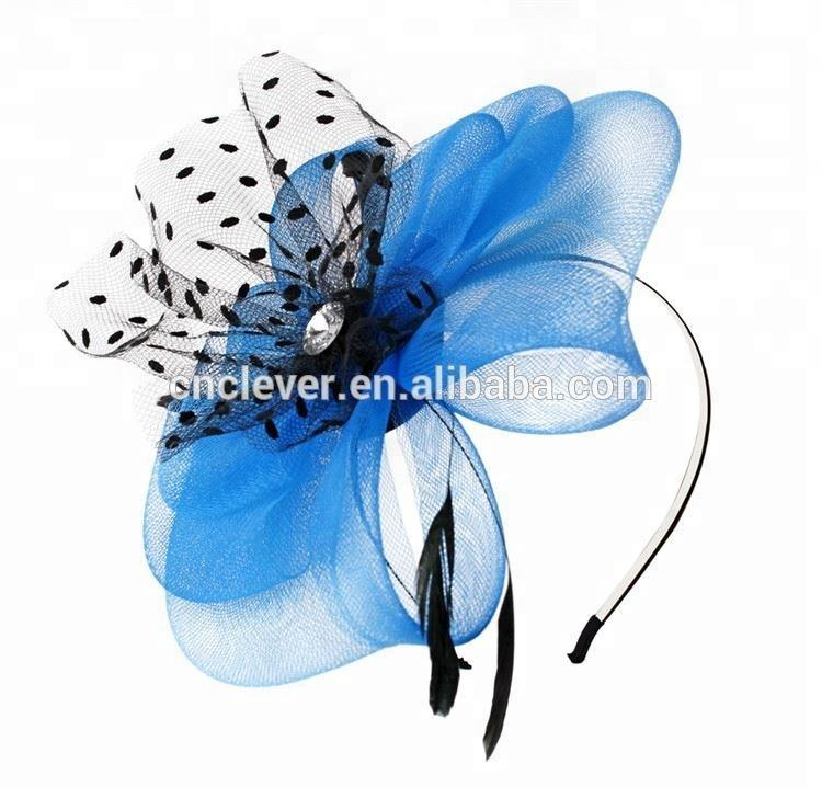 Best price excellent hen party top headdress quality artificial flower headbands for hen party