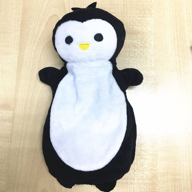 Animale pinguino di peluche burattino di mano