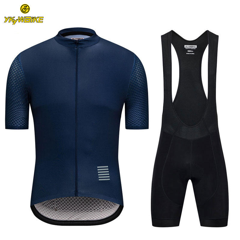 OEM Custom Wear Cycling Clothing Manufacturers Bike Jersey And Bib Shorts Padded Hot Sale Cycling Bib Sets